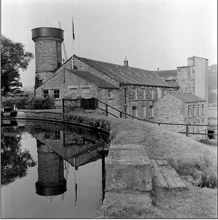 A photograph of Low Mill located in Caton, Lancashire, taken in 1956.