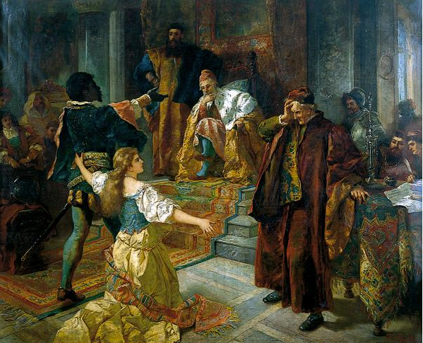 An image of the painting 'Othello' by Edouard Frederic Wilhelm Richter (1844-1913).