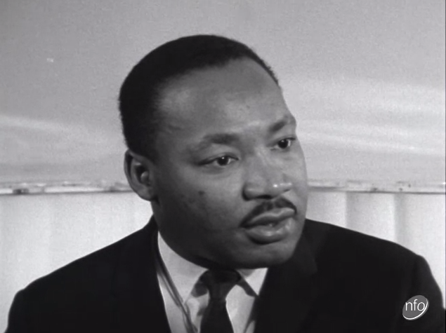 Martin Luther King talks about the Civil Rights Movement during a visit to the UK Luther King Interview: ITV News 21-09-1964